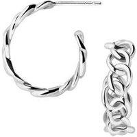 Signature Sterling Silver Mini Hoop Earrings