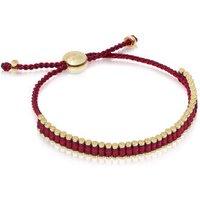 Ascot 18kt Yellow Gold Vermeil, Red & Purple Cord Mini Friendship Bracelet
