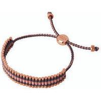 18kt Rose Gold Vermeil, Grey & Copper Glitter Cord Friendship Bracelet