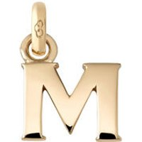 18kt Yellow Gold Letter M Charm