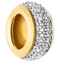 Sweetie 18kt Yellow Gold Vermeil & White Diamond Pave Bead