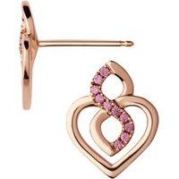 18k Rose Gold & Rhodolite Garnet Infinite Love Earrings
