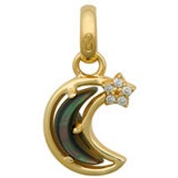 18kt Yellow Gold & Diamond Over The Moon Charm