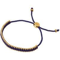 18kt Yellow Gold & Indigo Cord Mini Friendship Bracelet by Links of London
