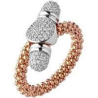 Star Dust Rose Gold-Plated Round Toggle Ring
