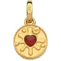 18kt Yellow Gold Vermeil & Garnet Jam Ring Charm