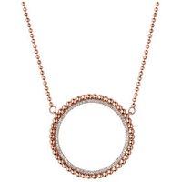 Effervescence 18kt Rose Gold & Diamond Halo Necklace