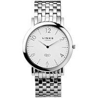 Noble Slim Men's Stainless Steel Silver Bracelet Watch - Bracelet Gifts