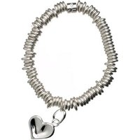 Sweetie Sterling Silver Thumbprint Childs Bracelet with Heart Charm by Links of London