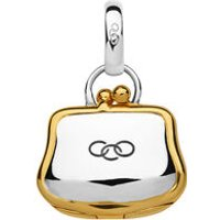 Sterling Silver & 18kt Yellow Gold Vermeil Purse Charm by Links of London