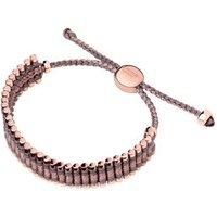 18kt Rose Gold Vermeil, Taupe & Copper Cord Friendship Bracelet