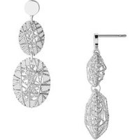 Dream Catcher Sterling Silver Oval Earrings