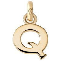 18kt Yellow Gold Letter Q Charm