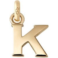 18kt Yellow Gold Letter K Charm