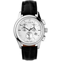 Regent Men's Stainless Steel & Black Chronograph Watch by Links of London