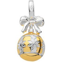 Sterling Silver & 18K Yellow Gold Vermeil Star Bauble Charm