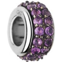 Sweetie Sterling Silver & Amethyst Pave Bead