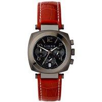 Brompton Women's Gunmetal Grey & Burgundy Leather Chronograph Watch