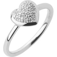 Diamond Essentials Sterling Silver & Pave Heart Ring - Diamond Gifts