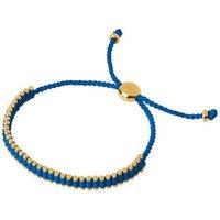 18kt Yellow Gold & Blue Cord Mini Friendship Bracelet by Links of London