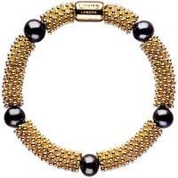 Effervescence Star 18kt Yellow Gold Vermeil & Black Pearl Bracelet