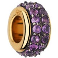 Sweetie 18kt Yellow Gold Vermeil & Amethyst Pave Bead
