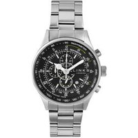 MPH Stainless Steel Black Dial Chronograph Bracelet Watch - Bracelet Gifts