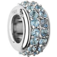Sweetie Sterling Silver & Blue Topaz Pave Bead