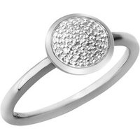 Diamond Essentials Sterling Silver & Pave Round Ring - Diamond Gifts