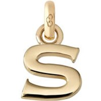 18kt Yellow Gold Letter S Charm