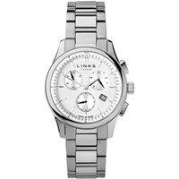 Regent Men's Stainless Steel Chronograph Bracelet Watch in Silver