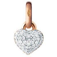 18kt Rose Gold & Diamond Pave Mini Heart Charm