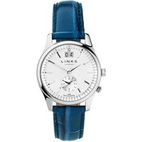 Regent Women's Stainless Steel & Blue Leather Band Watch by Links of London