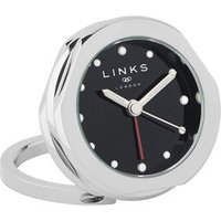 20/20 Stainless Steel Multi Black Dial Alarm Clock