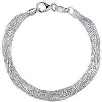 Essentials Sterling Silver Silk 10 Row Bracelet by Links of London