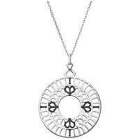 Timeless Sterling Silver & Black Sapphire Long Pendant Necklace by Links of London