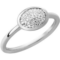 Diamond Essentials Sterling Silver & Pave Oval Ring - Diamond Gifts