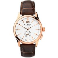 Regent Men's Rose Gold-Plated & Chocolate Leather Band Watch - Band Gifts