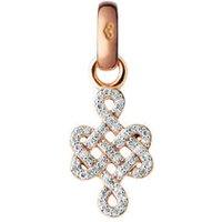 18kt Rose Gold & Diamond Infinity Knot Charm