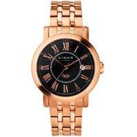 Richmond Men's Rose Gold-Plated Black Dial Bracelet Watch - Bracelet Gifts