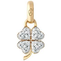 18kt Yellow Gold & Diamond Four Leaf Clover Charm - Charm Gifts