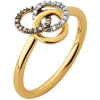 Treasured 18kt Yellow Gold Vermeil, Champagne & White Diamond Ring by Links of London