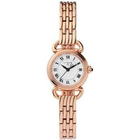 Driver Mini Round Rose Gold-Plated Bracelet Watch Steel