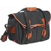 Billingham 335 Shoulder Bag - Black Canvas/Tan