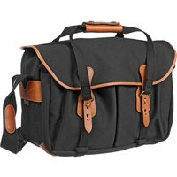 Billingham 445 Shoulder Bag - Black Canvas/Tan