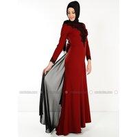 Hidschab Abendmode - Rot - MODAYSA