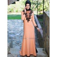 Hidschab Abendmode - Lachsfarben - MODAYSA
