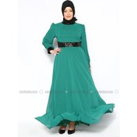 Große Größen Abendkleid - Grün - MODAYSA
