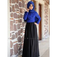 Festlicher Hijab - Blau - Zehrace