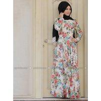 Hidschab Kleid - Ekru - Zehrace